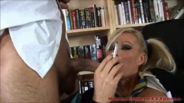 Michelle Thorne - Pantyhose Smoking Schoolgirl