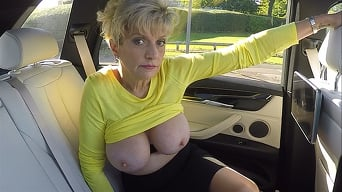 Lady Sonia in 'Big MILF Tits On Show In The Car'