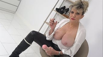 Lady Sonia in 'My HUGE New Dildo And Your Cock'