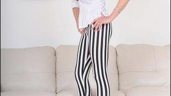 Lady Sonia in 'Striped leggings'