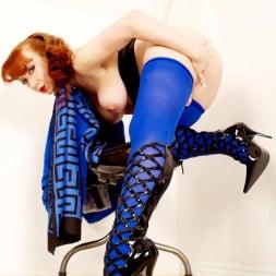 Red XXX in 'Red XXX' Blue Pantyhose (Thumbnail 9)