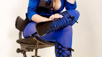 Red XXX in 'Blue Pantyhose'