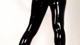 Red XXX in 'Latex Leggings'