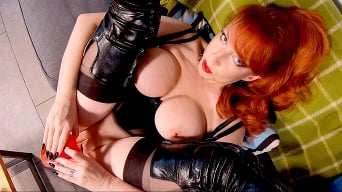 Red XXX in 'These Boots are made for ... Jerking Off!'